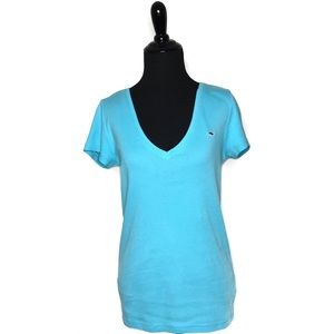 Vineyard Vines Tops - Vineyard Vines Logo Deep V Neck Tee